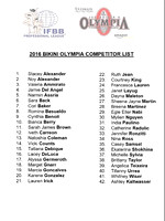 Competitor List